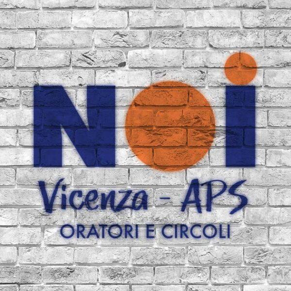 Logo NOI Vicenza APS disegnato su muro